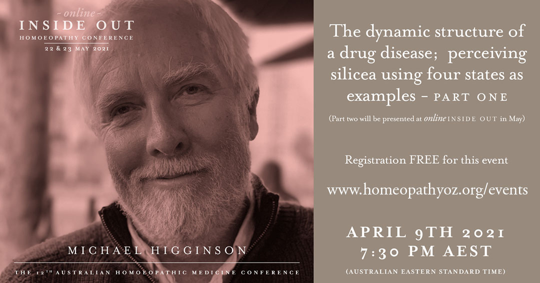 Free webinar on 9th of April with Australian homeopath Michael Higginson